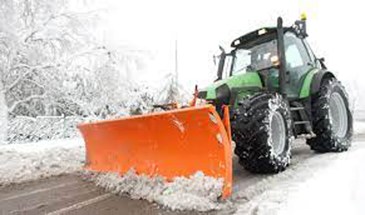 unita sgombero neve e spargimento cloruri trattori - faro